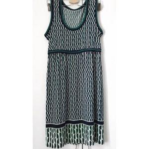 Max Studio Geometric Print Sleeveless Sun Dress
